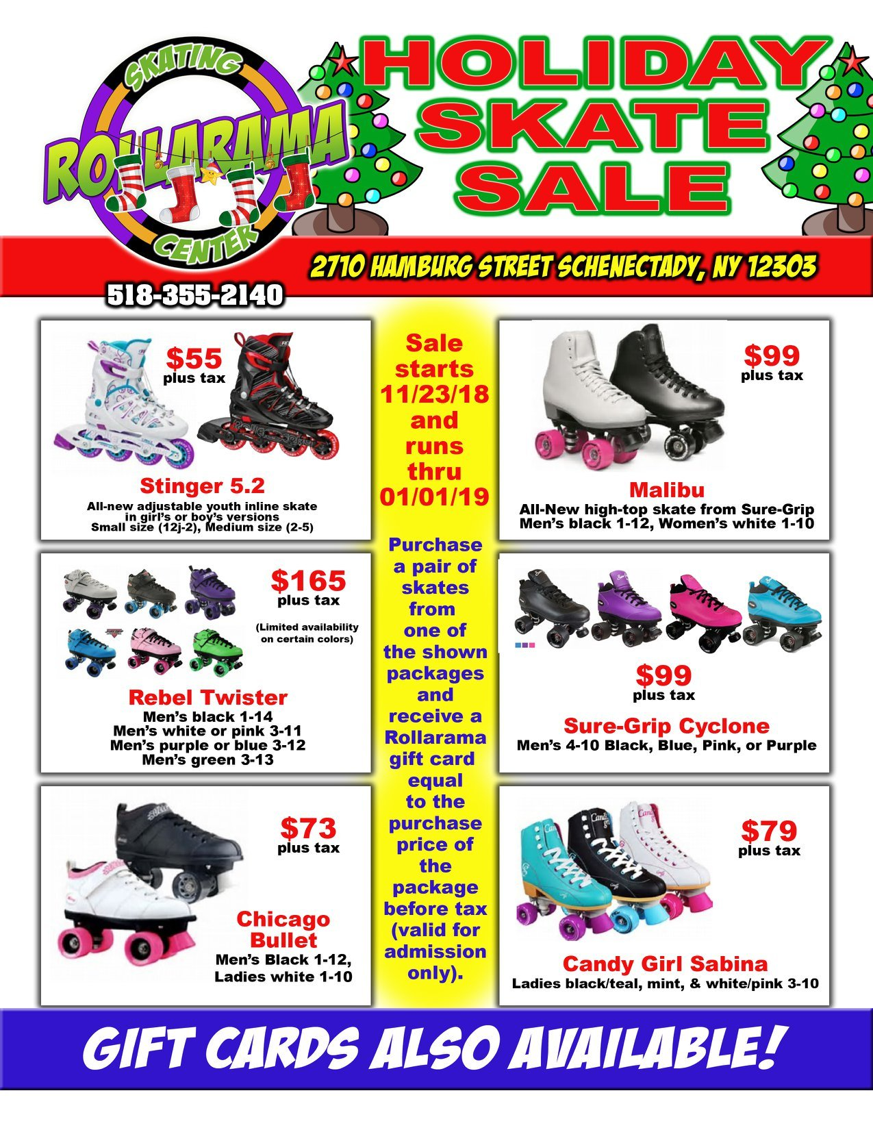 Holiday Skate Sale now at Rollarama!