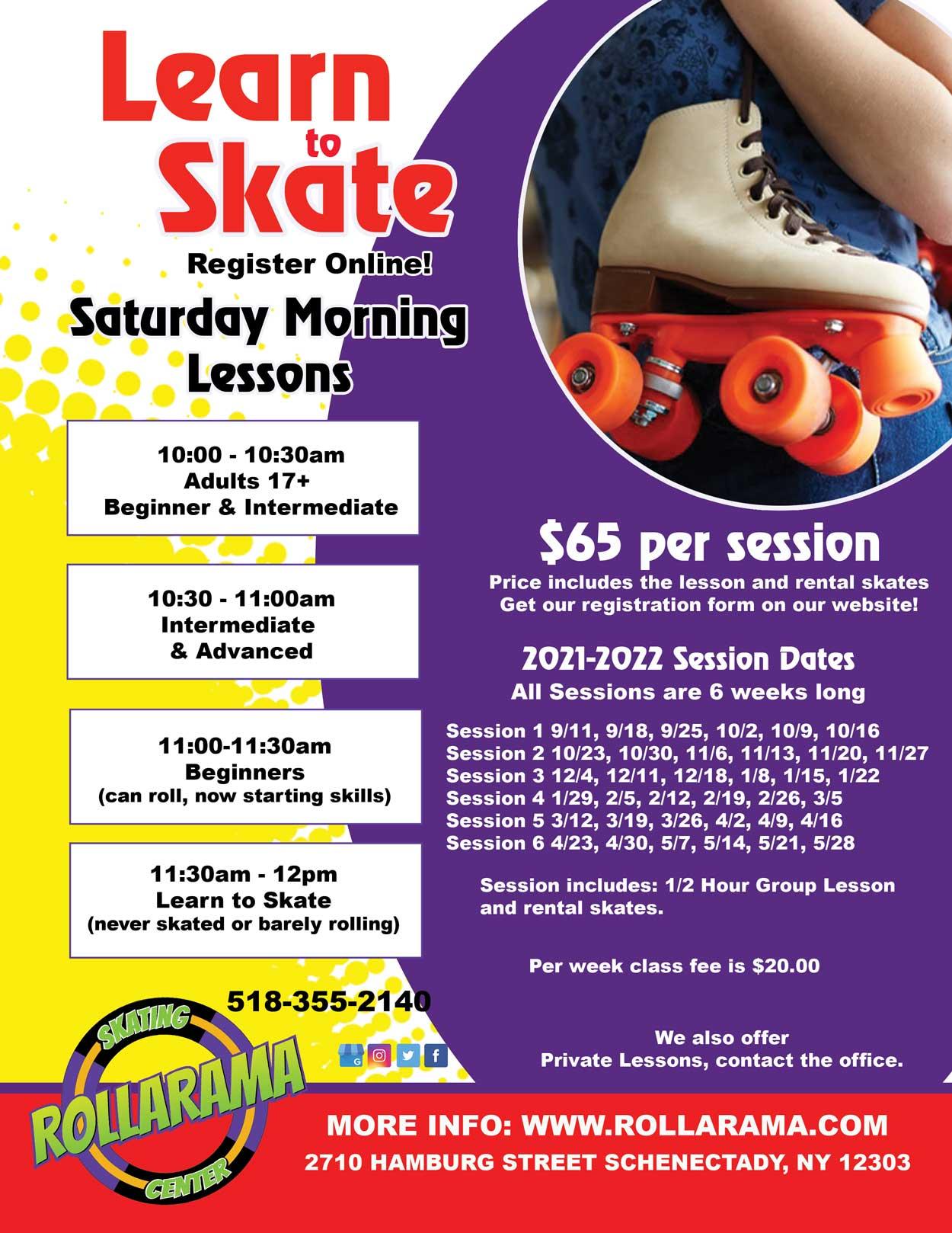 2021-22 Skating Class flyer