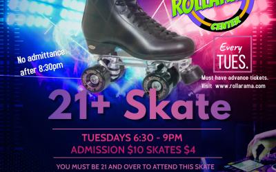 Adult 21+ Tuesday Night Skate